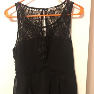 Charlotte Russe lace and peplum tank top